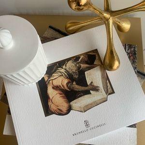 Brunello cucinelli coffe table book